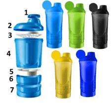 Smart Shaker Wave 3-в-1 600 мл + 350 мл (5 цветов на выбор)