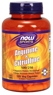 NOW Arginine & Citrulline 500/250 mg