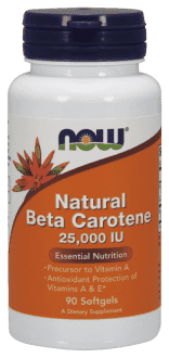 NOW Natural Beta Carotene 25000 IU