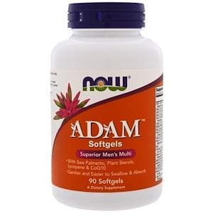 NOW ADAM Superior Mens Multi Softgels, Tabs, Caps