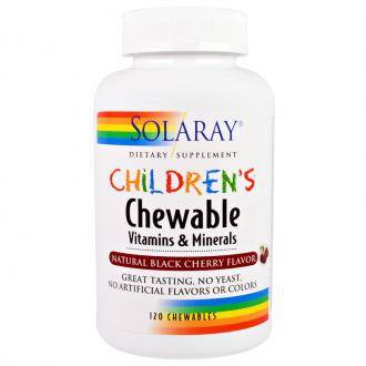 Детские витамины Solaray children's chewable vitamins and minerals