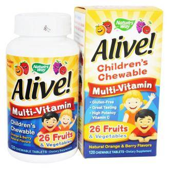 Nature's Way, Alive! Children's Chewable Multi-Vitamin