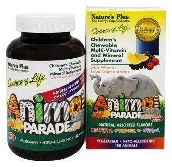 Детские витамины Nature's Plus, Animal Parade, Children's Chewable Multi-Vitamin & Mineral