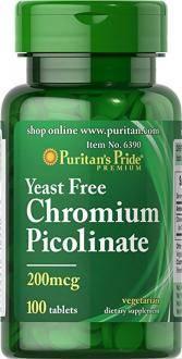 Puritan's Pride Chromium Picolinate 200 mcg Yeast Free