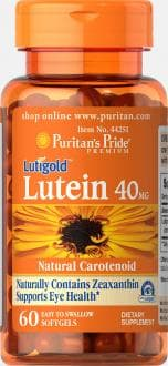 Лютеин 40 мг и Зеаксантин, Puritan's Pride, Lutein 40 mg with Zeaxanthin