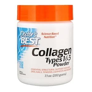 Коллаген в порошке, Doctor's Best, Best Collagen Type+C 1+3 Powder