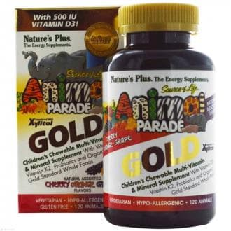 Витамины для детей Nature's Plus, Animal Parade Gold, Children's Chewable Multi-Vitamin & Mineral
