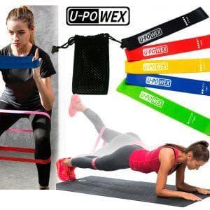 Фитнес резинки U-POWEX (комплект из 5 штук)