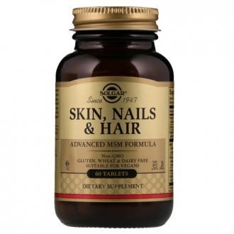 Витамины для волос, кожи и ногтей, Solgar, Skin, Nails & Hair, Advanced MSM Formula