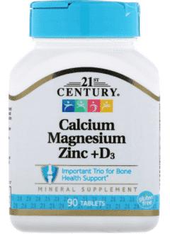 Calcium Magnesium Zinc + D3 от 21st Century
