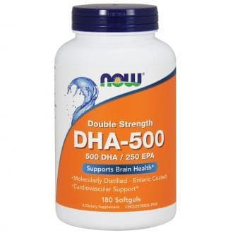 Рыбий жир, двойная сила, Now Foods, Double Strength, DHA-500/EPA-250