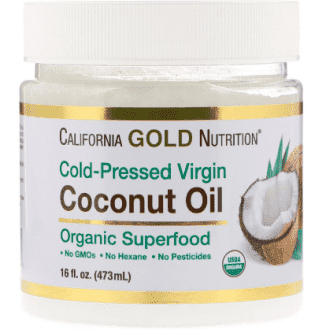 Кокосовое масло, Органик, California Gold Nutrition, Cold-Pressed Organic Virgin Coconut Oil