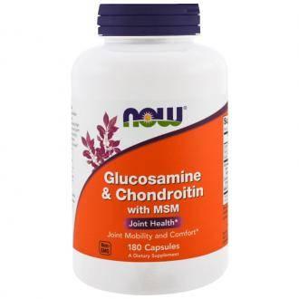 NOW Glucosamine Chondroitin MSM caps